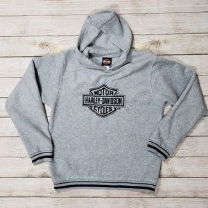 Harley-davidson 16/18 Gray Fleece Hoodie Jacket